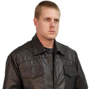 Other - USA Shirt Short Sleeve Leather Shirt with Snaps
